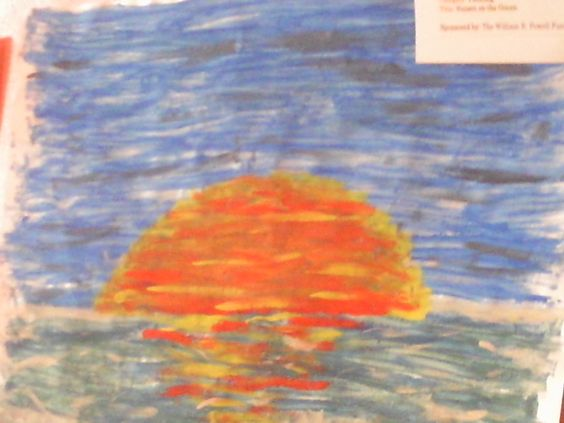 This is one of my paintings.  I entered it into a contest.  I didn't get 1st place though.  :(