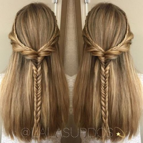 50 Half Updos For Your Perfect Everyday And Party Looks In 2020 Hair Styles Straight Hairstyles Braided Half Updo