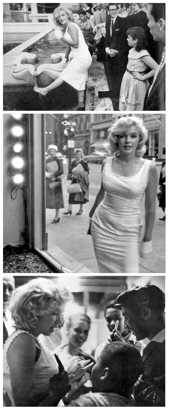 Monroe in New York City. 1957. Photographer Sam Shaw