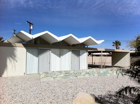 Architects Alexander Harrison Ussteel Folded Wexler Plate House Conc Roof The Cofolded Mid Century Modern Exterior Mid Century Exterior Roof Design