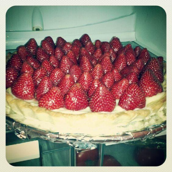 tarte aux fraises ( fait maison)