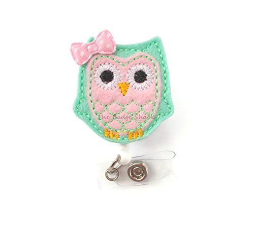 Pink and Mint Green Owl with Bow - Retractable ID Felt Ba... https://www.amazon.com/dp/B00IOVX252/ref=cm_sw_r_pi_dp_NFXGxb3W7BS0V