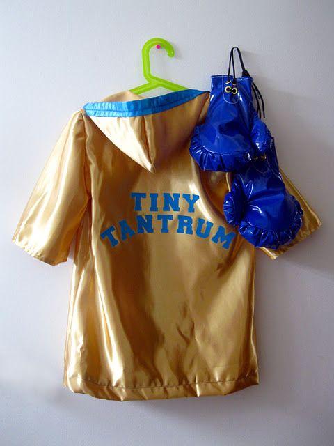 Tiny Tantrum, child's boxer costume on Hideous! Dreadful! Stinky!