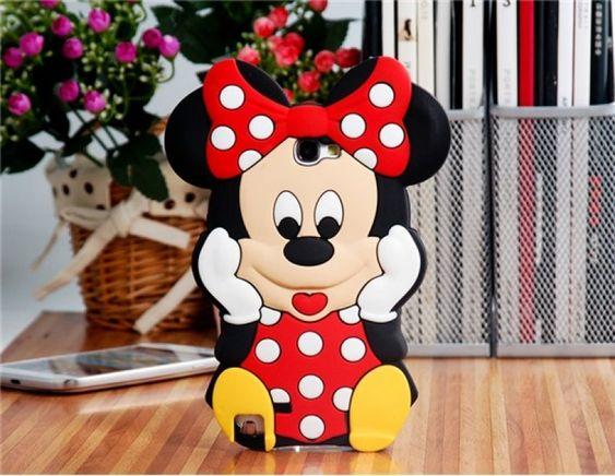 Funda de silicona con forma de Minnie Mouse para Samsung Galaxy Note 2