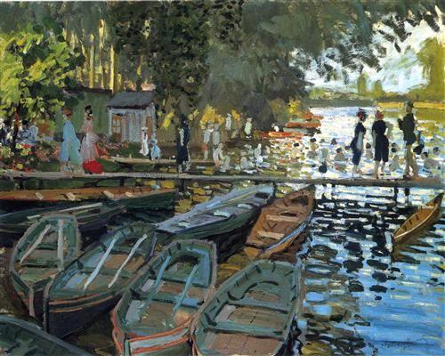 Bathers at La Grenouillere - Claude Monet 1869