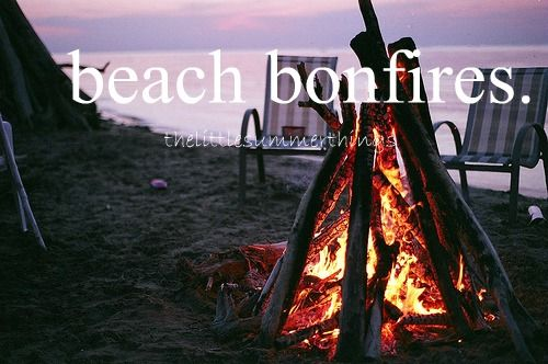 What I'll miss about living in Washington. Having bonfires on the beach <3