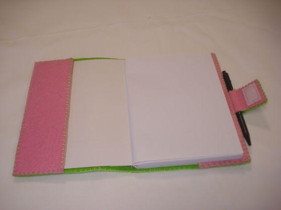 Notebook em feltro/felt notebook