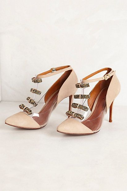 So in love, someone please buy for me. Hither T-Strap Pumps #anthropologie