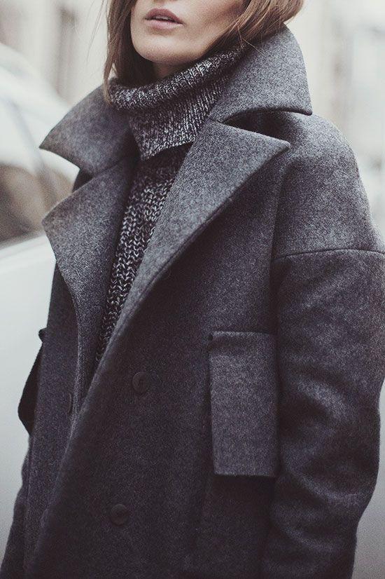 Grey on grey coat: