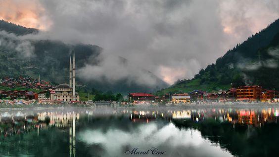 UzunGöl by MuratEmreCan - Photo 122688325 - 500px.  #trees #sky #lake #forest #sea #beauty #sunset #water #travel #blue #sun #light #clouds #tree #beautiful #green #karadeniz #trabzon #uzungöl günbatarken ...