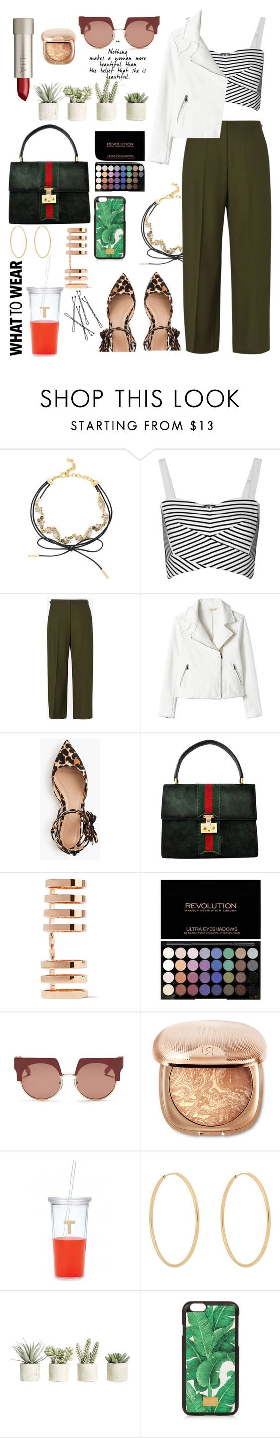 """""""What to Wear with Flats"""" by meli111 on Polyvore featuring BaubleBar, Rebecca Minkoff, Maison Margiela, J.Crew, Gucci, Repossi, Ilia, Marni, Kate Spade and Loren Stewart"""