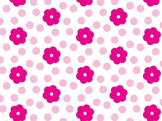 Pink Flower Pattern vector free