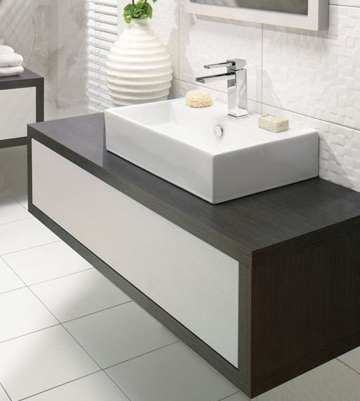 Iotti An475 Aurora Double Vessel Sink Bathroom Vanity Wall Mounted