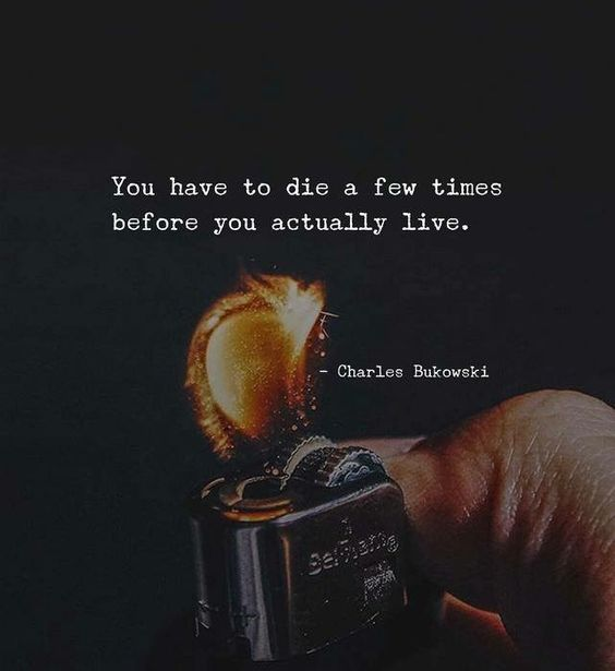 """""""You have to die a few times before you actually live."""""""