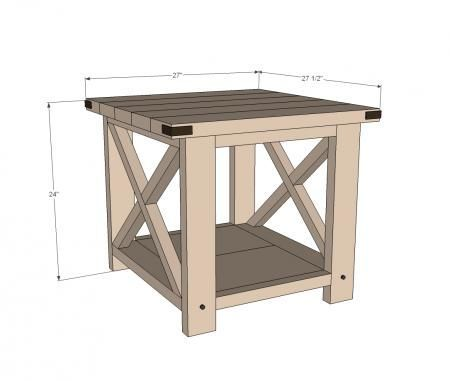 ana white build a rustic x end table free and easy diy project and furniture plans how to build for the home pinterest ana white
