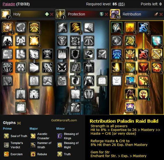A Retribution Paladin Raid Build -- #warcraft -- http://gotwarcraft.com/paladin-builds/