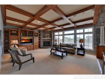 195 Meadowview Lane, Medina, MN 55340 — Many details, features  upgrades throughout this custom home in Wild Meadows. Large rms, BR suites w/baths  walk-in closets. 6th BR can be used as den. LL configured for an in-law suite w/full kitchen, 2nd laundry, guest BD suite. Over 1200sqft htd gar.