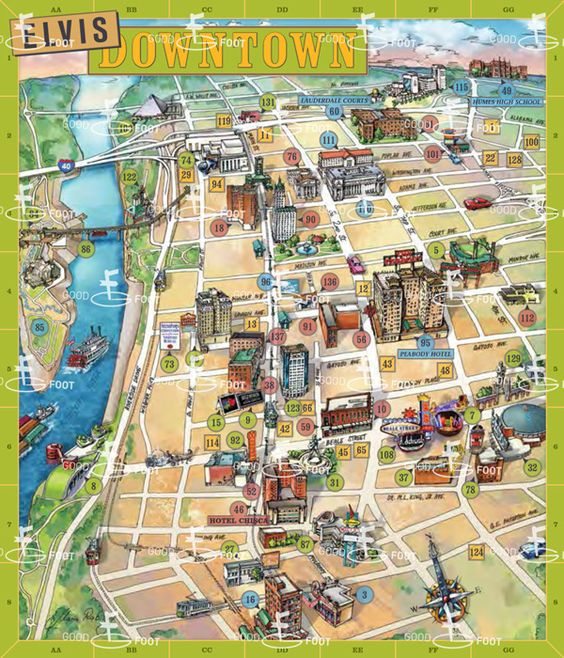 downtown charleston illustrated map Google Search – Usa Map Google