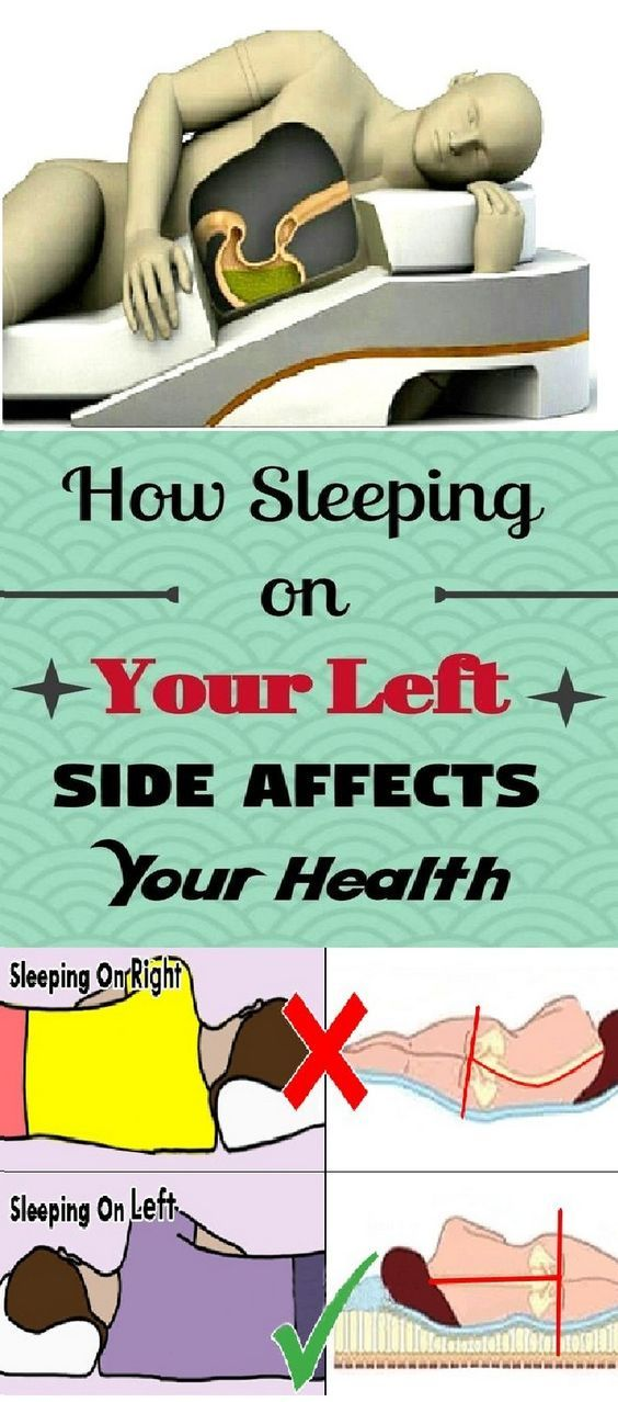How Sleeping On Your Left Side Affects Your Health Health Medicine Book Positivity