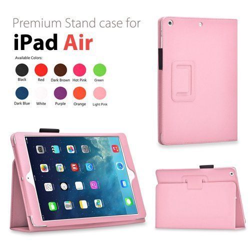 TNP iPad Air 2 Case (Pink) - Slim Fit Synthetic Leather F…