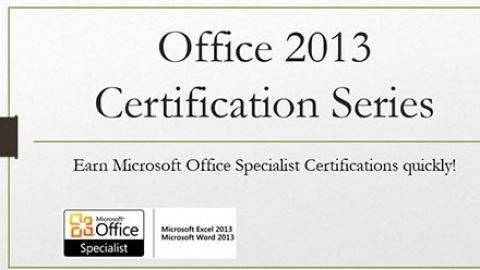 Word 2013: Office Certification Series - This course will prepare you to take and pass the Microsoft Office Specialist Word Core 2013 exam. Get Certified today!! - $50