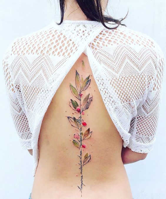 These watercolor tattoos are the prettiest things you 39 ll see all day aquarelle nouveaux - Tatouage colonne vertebrale ...