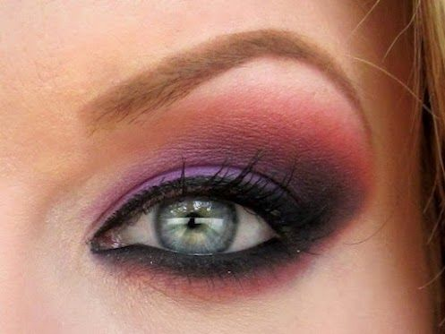 Makeup Geek - Google+: Sunset Eyeshadow, Coral Eyeshadow, Purple Eyes, Purple Coral, Makeup Eyeshadow, Coral Eye Makeup, Eyeshadow Ideas, Eyeshadow Makeup