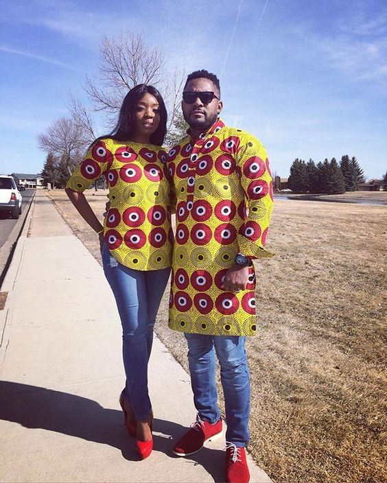 Couples casual style . #wearafrica #couplesoutfit #ankarastyles #africanprints #africanprintlovers #fashionblog #blog #boldprints #africanprint #ankarafashion #africanprintfashion #africanprintfashion #springfashion #africancouple #blacklove #blackloveisbeautiful #fashionpost #springwear #spring #springcollection2016 #ankarafriday