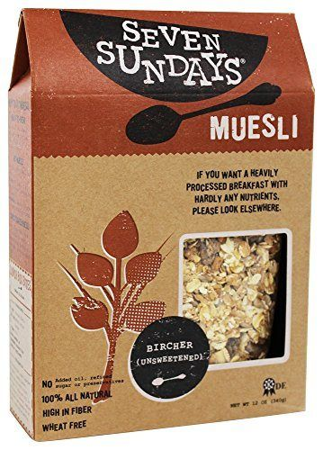 Seven Sundays - Muesli All Natural Bircher Unsweetened - 12 oz. - http://sleepychef.com/seven-sundays-muesli-all-natural-bircher-unsweetened-12-oz/