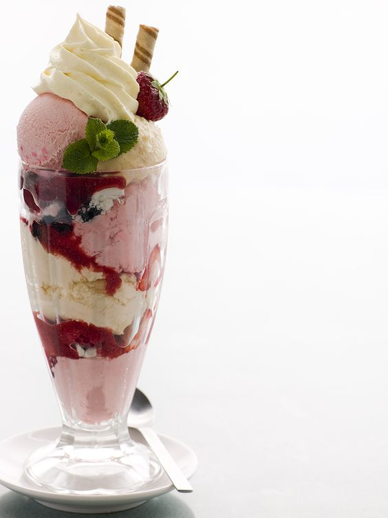 Knickerbocker Glory, essentially a really fancy ice cream sunday