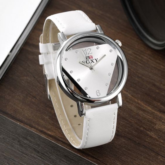 $3.09 (Buy here: http://appdeal.ru/4k5i ) SOXY Brand Fashion Transparent Dial Watch Leather Band Quartz-Watch Women Watches Hour Relogio Feminino Montre Homme Reloj Mujer for just $3.09