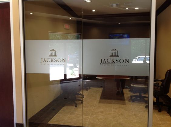 Frosted glass sign nyc frosted glass door nyc frosted glass window we specialize in custom - Glass office door signs ...