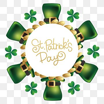 St Patricks Day Border Clover Hat St Patricks Day Clover Green Png Transparent Clipart Image And Psd File For Free Download In 2021 St Patricks Day Frame Decor St Patrick