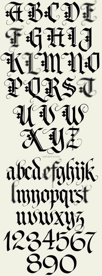 Letterhead Fonts / LHF Tributary / Old English Fonts