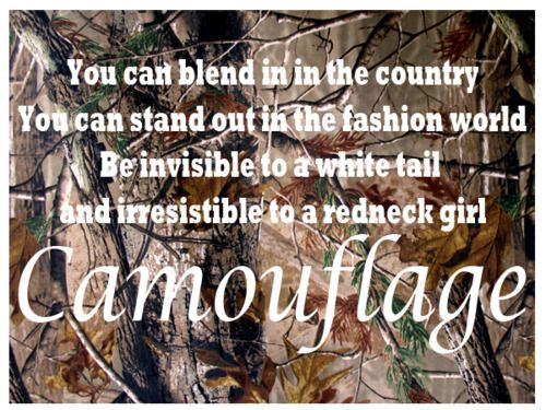 """Camouflage""- Brad Paisley <3."