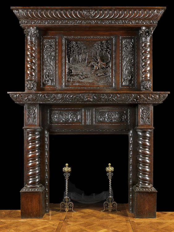 Gothic Antique Fireplace Mantels With Mirrors Antique Jacobean Carved Oak Fireplace With Over
