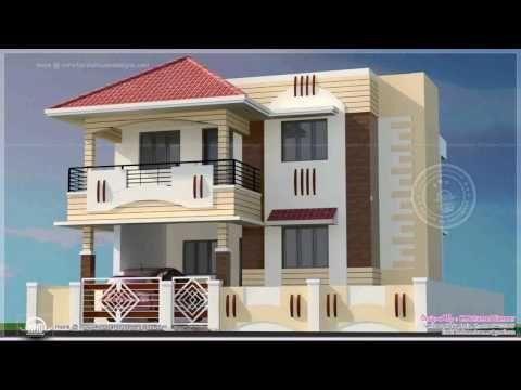 How Look Sky Blue Color For Home Exterior Youtube House With Balcony Kerala House Design House Main Gates Design