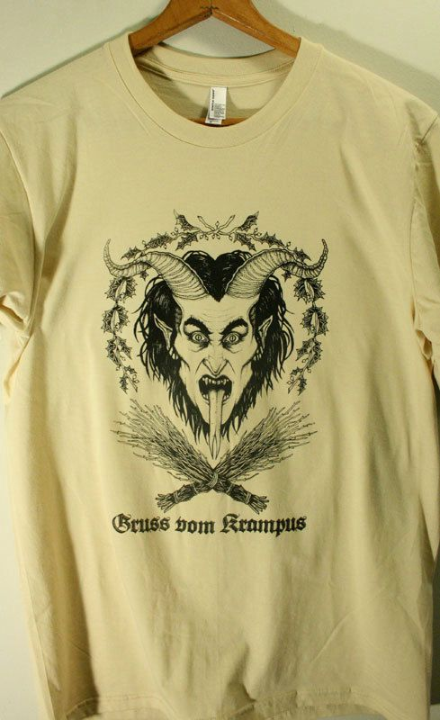Krampus is a beast-like creature from the folklore of Alpine countries thought to punish children during the Christmas season who had