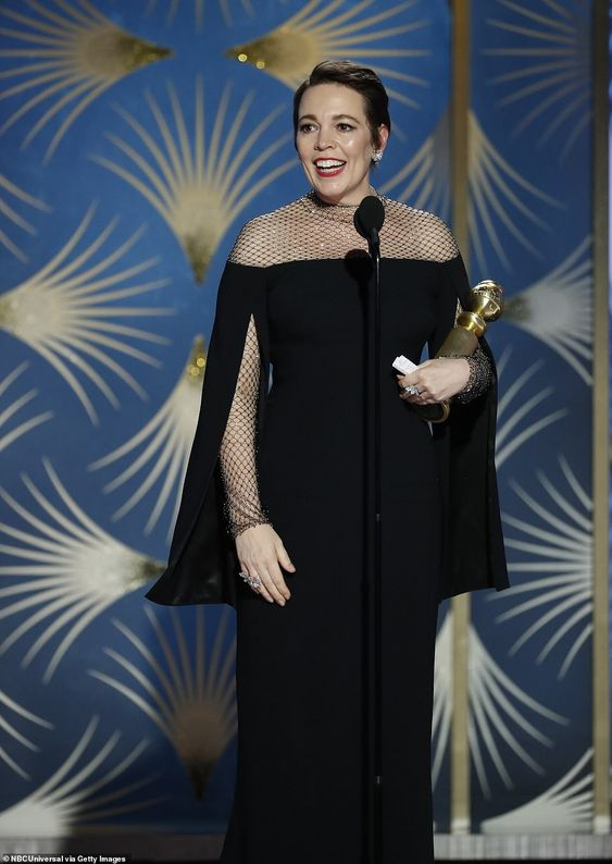 Olivia Colman won the award for the Best Performance by an Actress in a Motion Picture