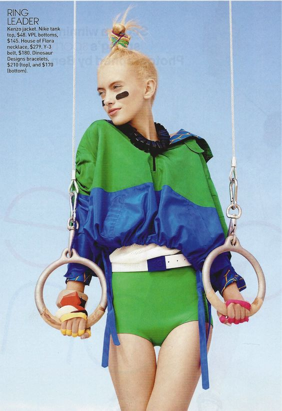 teen vogue- sportswear inspired photo shoot.