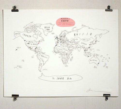 places on earth print (via you and me the royal we)
