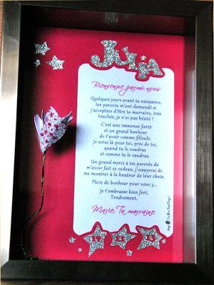 un cadeau de naissance originale d 39 une marraine fleur 3d. Black Bedroom Furniture Sets. Home Design Ideas