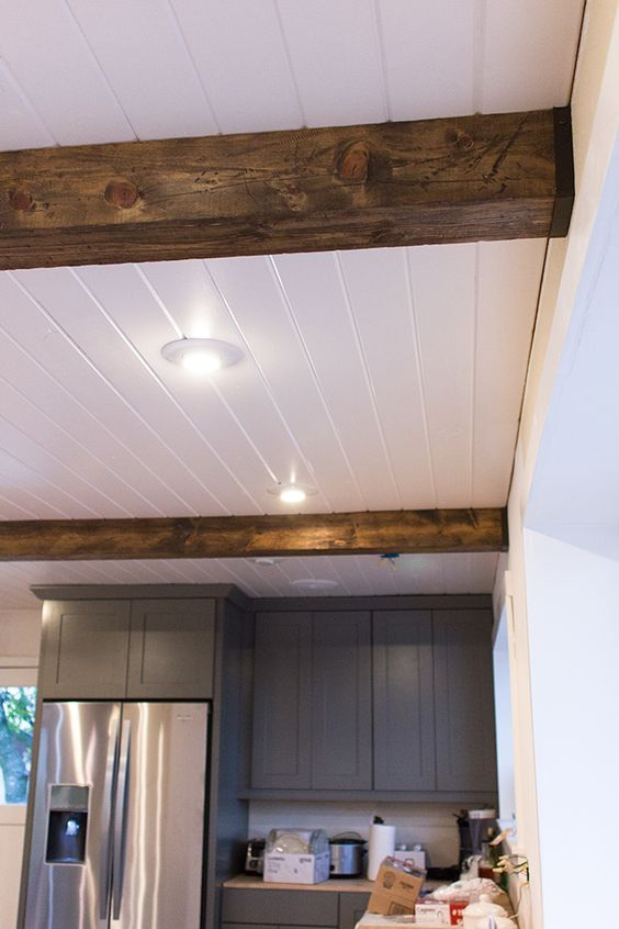 Wood beams beams and diy wood on pinterest for Where to buy faux wood beams