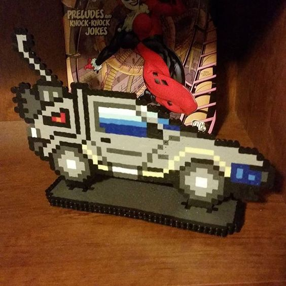 Delorean - Back to the Future perler beads by  k8bitcreations