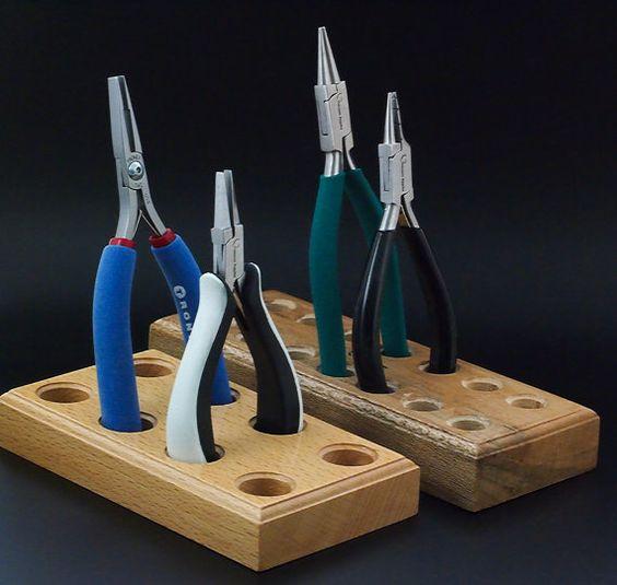 Best Werkzeughalter - Sie Pick 3,4,6 oder 7 Tools - Holzblöcke für Ihre Werkbank - kostenlose Probepackung von meiner handgefertigten Jump Ringe enthalten