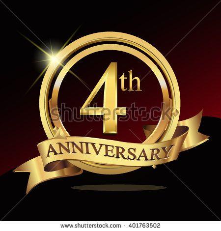 8th golden anniversary logo eight years birthday celebration with
