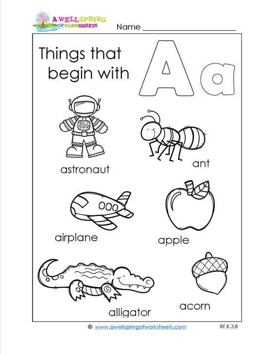 Our Things that Begin with A-Z worksheets are a great compliment ...