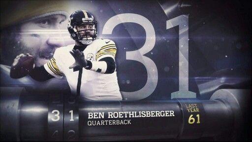 Top 100 of 2014. Voted #31 QB Ben Roethlisberger.