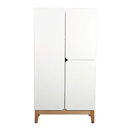 Armoire Scandinave Blanc Et Bois Kung Tall Cabinet Storage