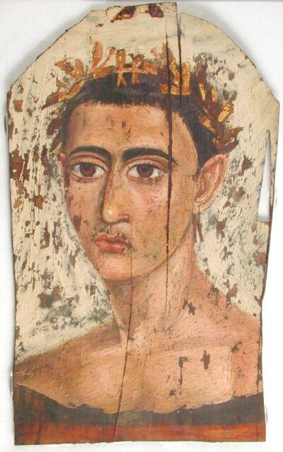 Fayum Mummy Portrait UC19613 -The Petrie Museum of Egyptian Archaeology, London.
